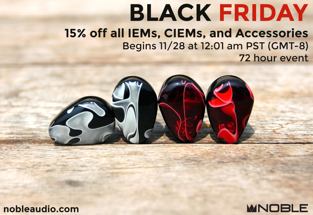Noble Audio Black Friday 2014